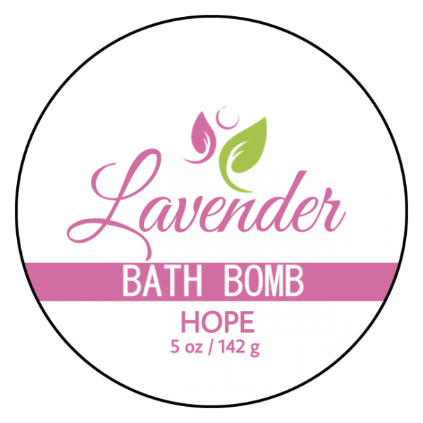 Hope Bath Bomb – Lavender Anti-Aging Label Front