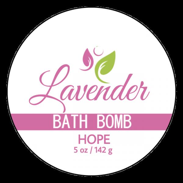 Hope Bath Bomb – Lavender Anti-Aging Label Front