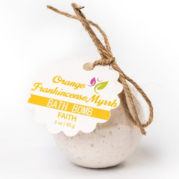 Faith Bath Bomb – Orange Frankincense Myrrh 3oz