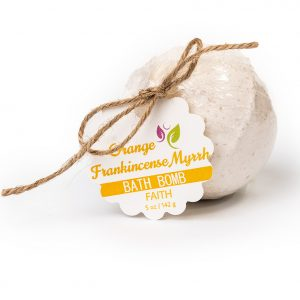 Faith Bath Bomb – Orange Frankincense Myrrh 5oz