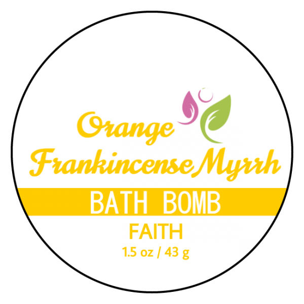 Faith Bath Bomb Front Label