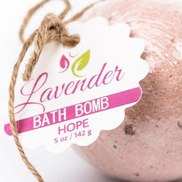 Hope Bath Bomb – Lavender Anti-Aging Label