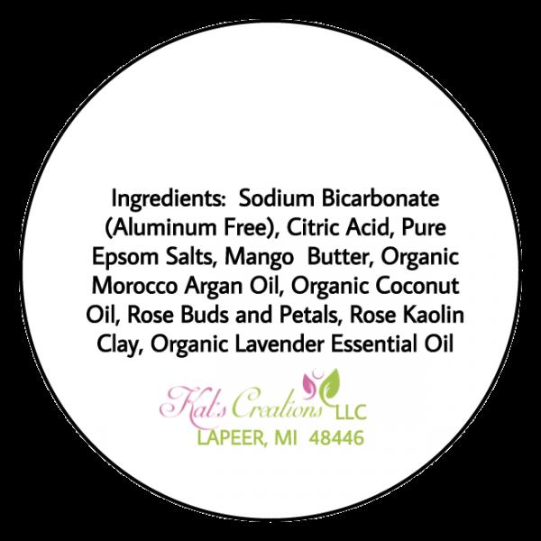 Hope Bath Bomb – Lavender Anti-Aging Label Back