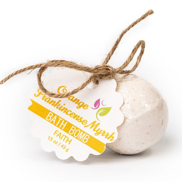 Faith Bath Bomb – Orange Frankincense Myrrh 1.5oz