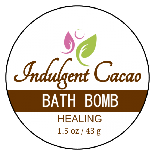 HEALING Bath Bomb - Immune Defense - Indulgent Cacao - Front Label 1.5 oz