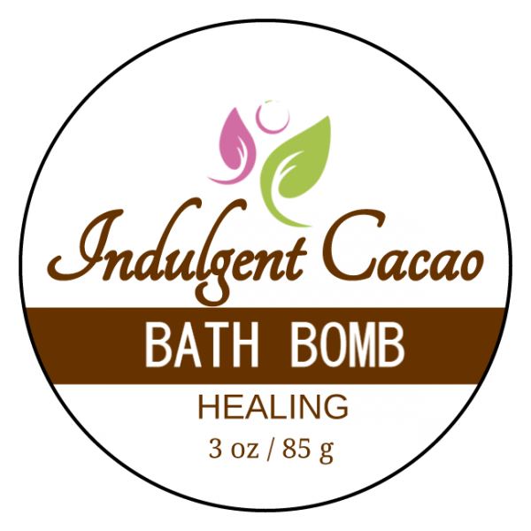 HEALING Bath Bomb - Immune Defense - Indulgent Cacao - Front Label 3 oz