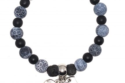 Black Crackle Agate Black Onyx