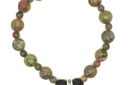 Green Unakite Bracelet for sale on line
