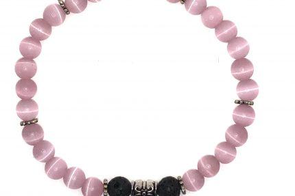 Pink Cat's Eye Angel Charm Bracelet for sale on line