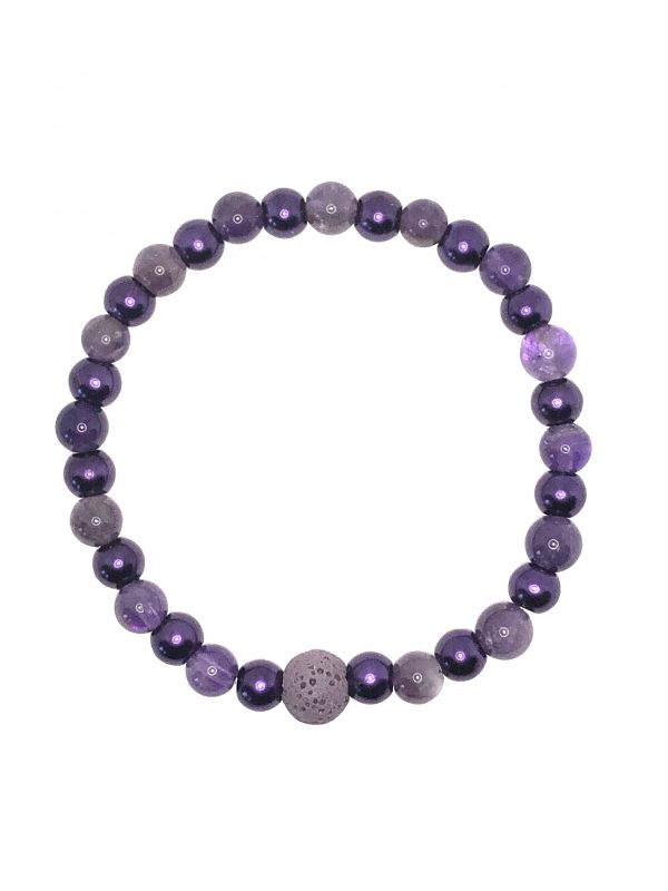 Amethyst Quartz and Purple Bracelet for sale online