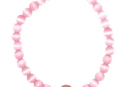 Pink Cat's Eye Beaded Bracelet for sale online