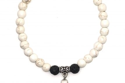 Howlite Cross Charm Bracelet for sale online
