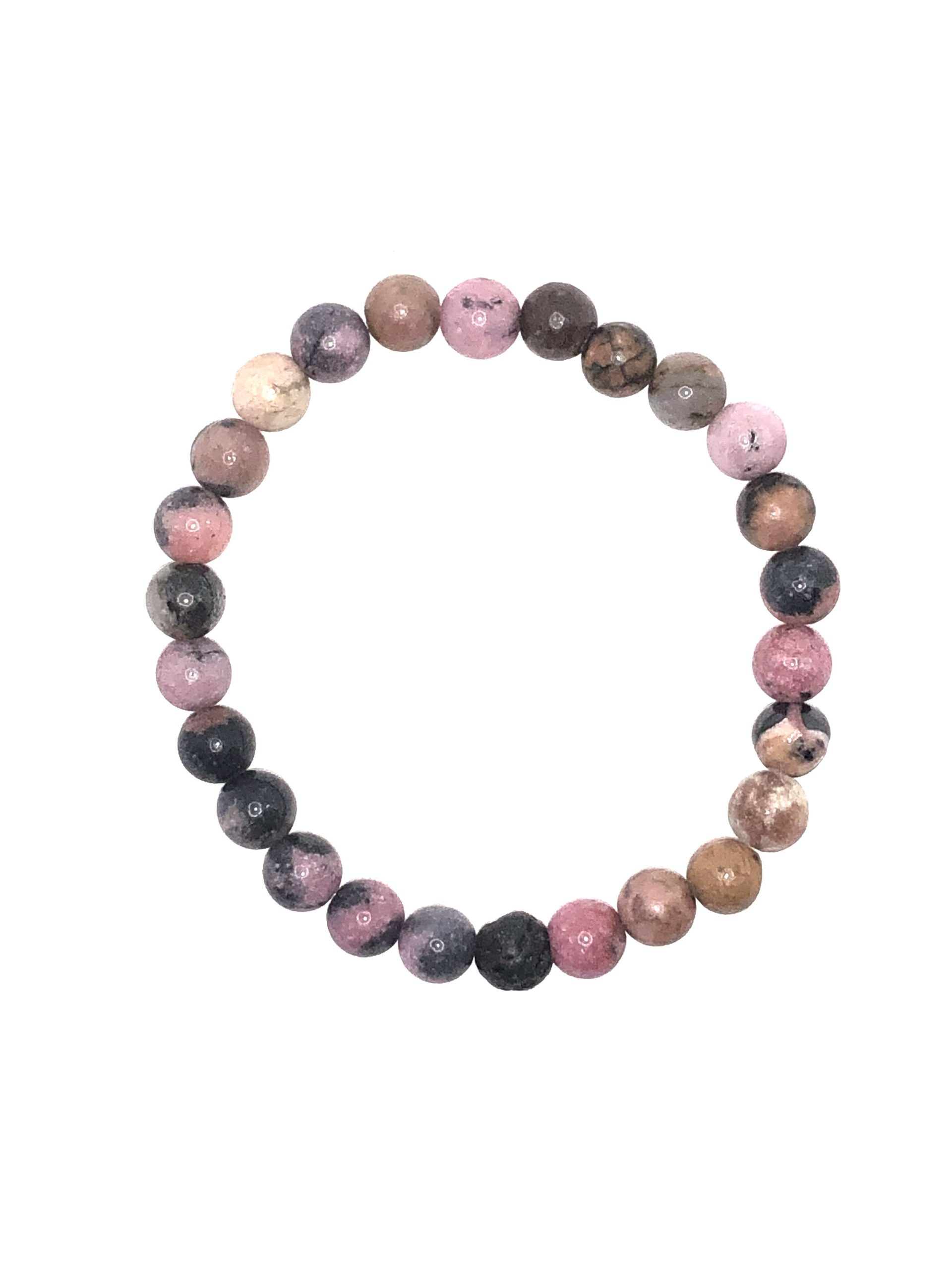 Rhodonite Diffuser Beaded Bracelet for sale online
