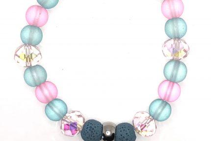 Pink and Blue Diffuser Bracelet