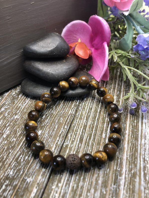 Tiger Eye Diffuser Bracelet for sale online