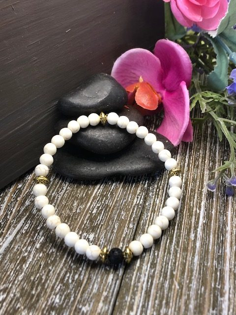 Howlite with Gold Spacers for sale online