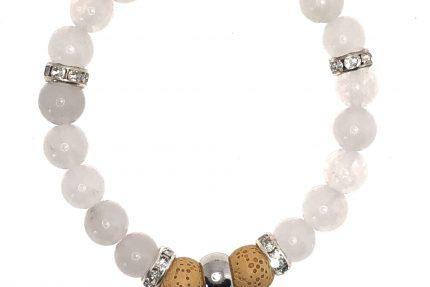 White Quatzite Diffuser Bracelet for sale online