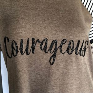 Leopard Color Block Courageous Short Sleeve T-Shirt