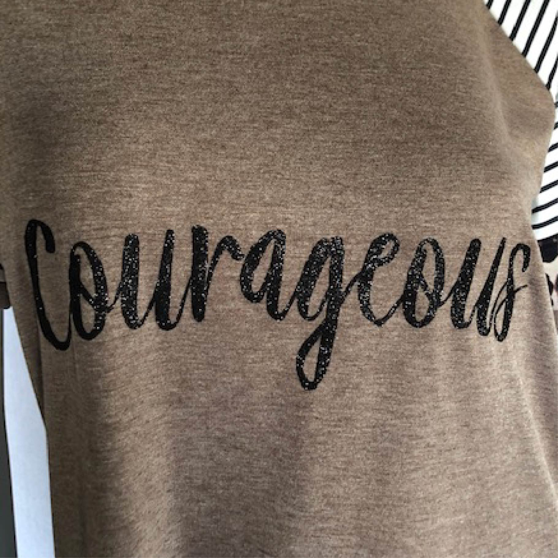 Leopard Color Block Courageous Short Sleeve T-Shirt