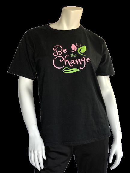 Be the Change Black Short Sleeve T-Shirt