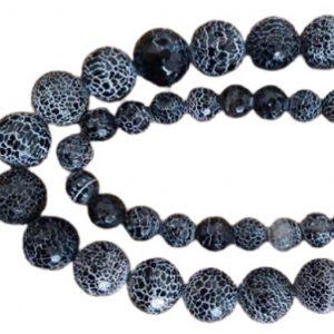 Black Crackle Agate