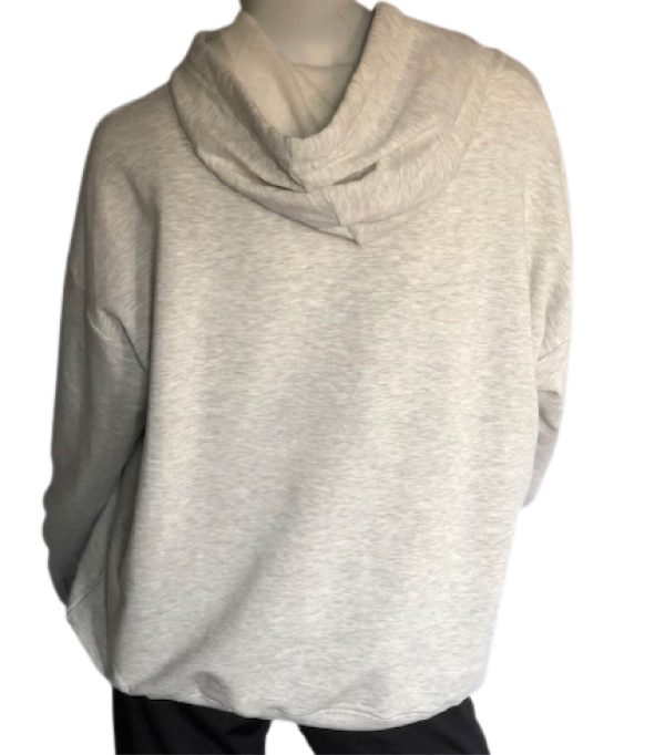 Light Grey Heathered Sweatshirt Back View
