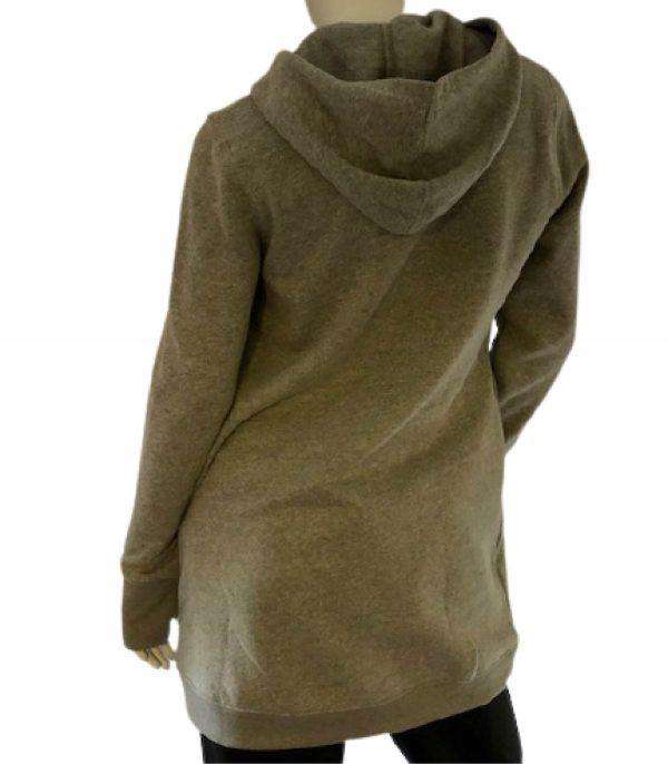 Back view of heather grey tunic