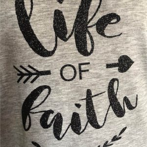 Life of Faith Graphic in Black Glitter Flack Vinyl