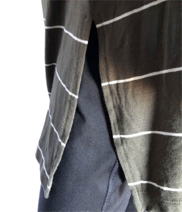 Olive tunic with side slits