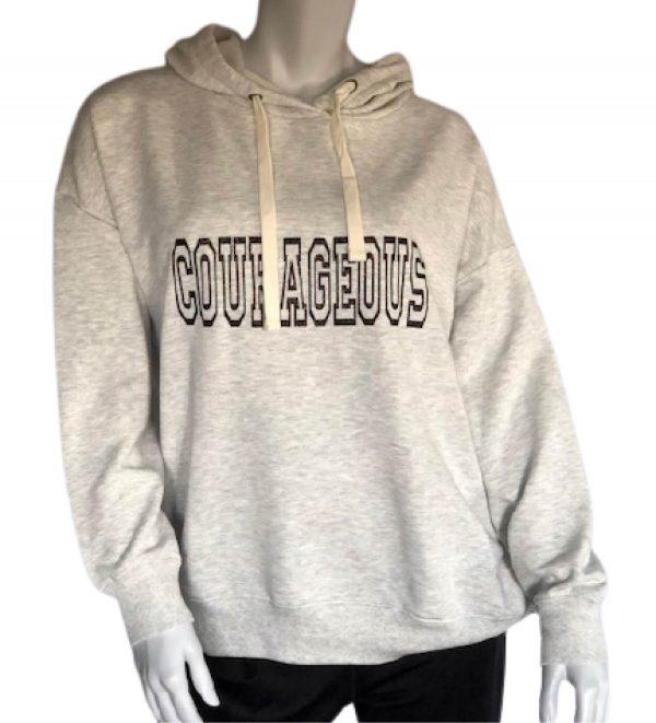 lt heather grey womens Courageous cozy pullover hoodie sweatshirt